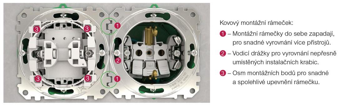 SEDNA Design-Elements - kovový montážní rámeček