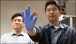 Supercapacitor charged by human body heat