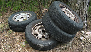 Completely recyclable tyres