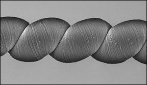 Yarn generating electricity