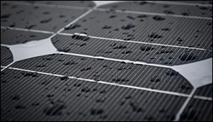Solar cells generate power in rain