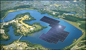 The largest floating solar power plant