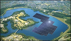 Japanese Begin with the Construction of the World's Largest Floating Solar Power Plant