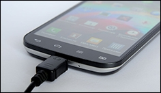 A smartphone charge in five minutes