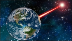 Laser technology on Earth could emit a beacon to attract attention from far away stars